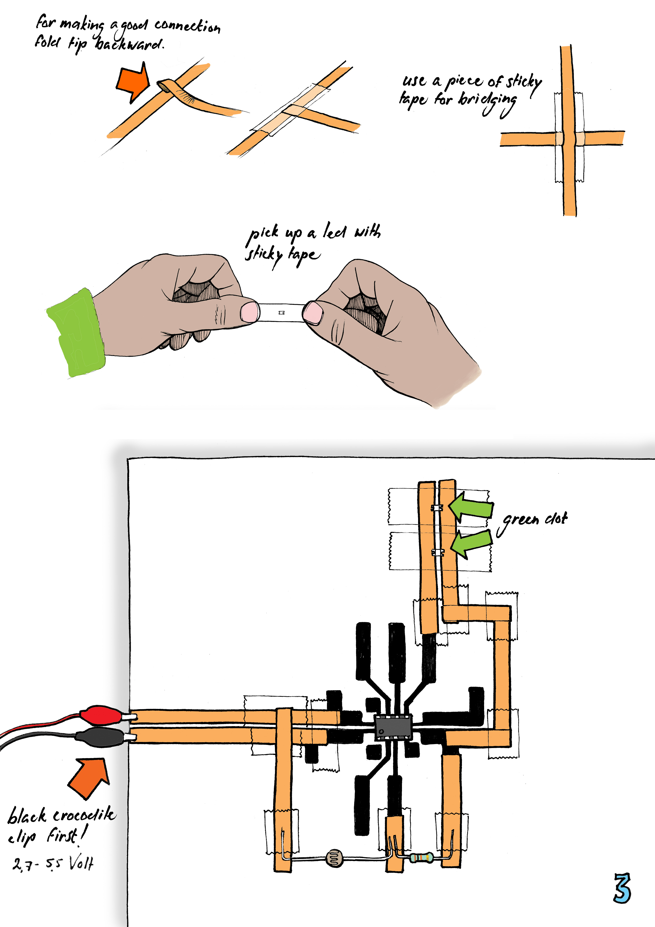 FabLearn Fellows Circuit stickers: electronic circuits made of ...