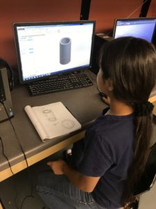 Student using Solidworks